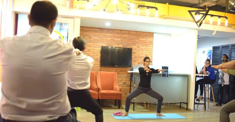Office Yoga at Awfis! 7818c50c5