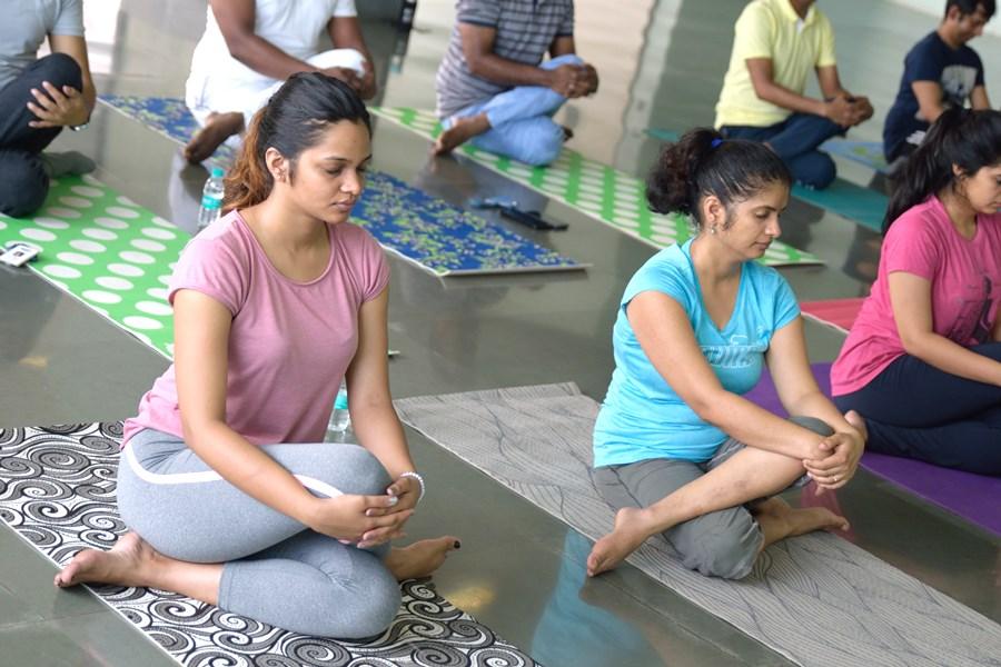 Female Employees Yoga