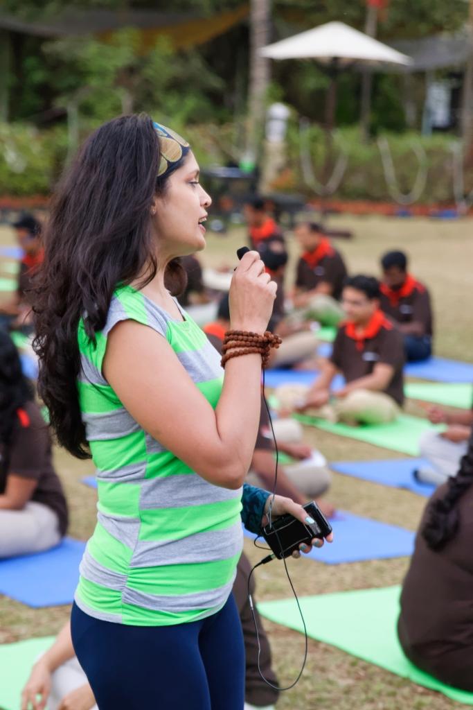 Pretty Indian Yoga Instructor