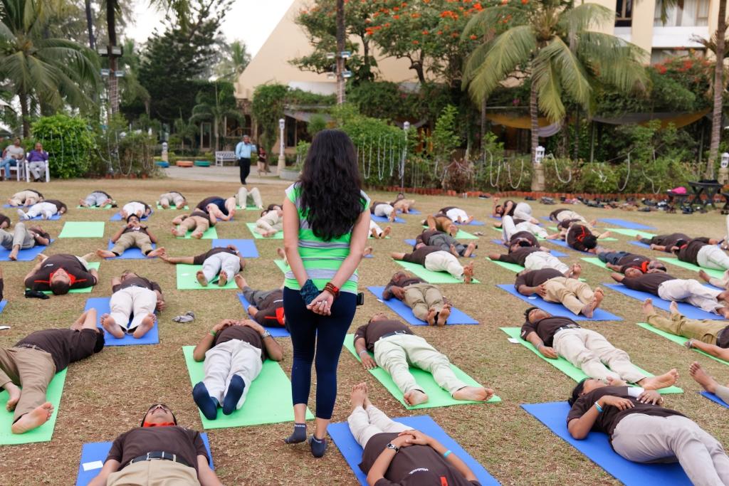 Shavasana at Outdoor Yoga