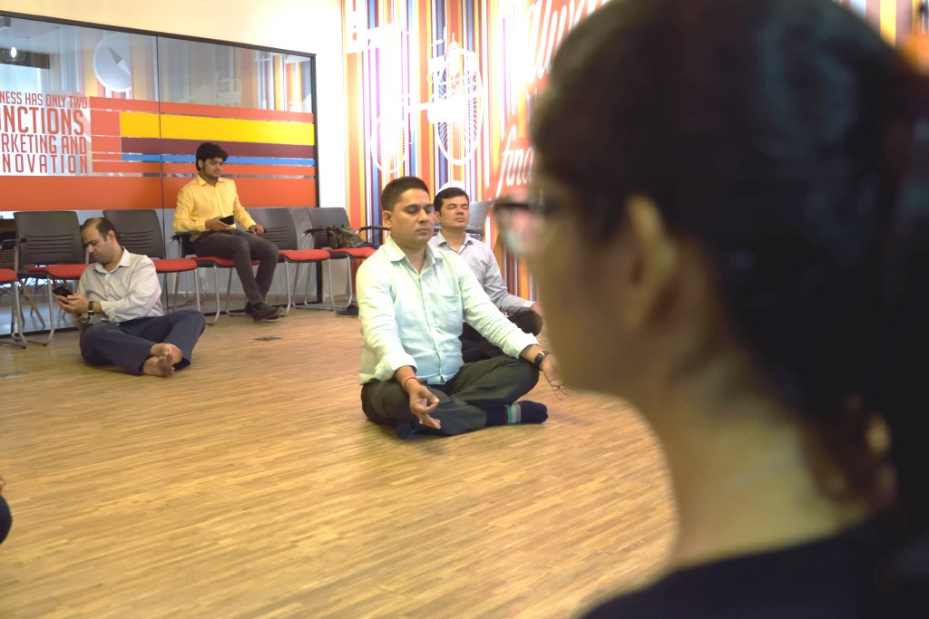 yoga for office employees