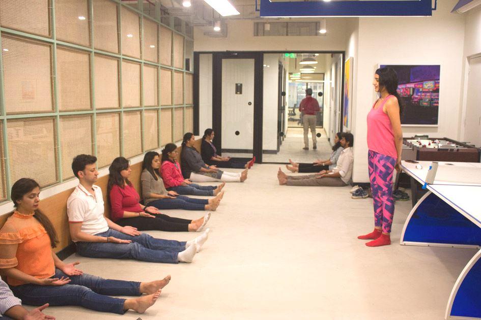 Yoga Instructor Devanshi conducting classes