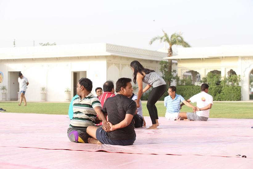 Yoga teachers for events
