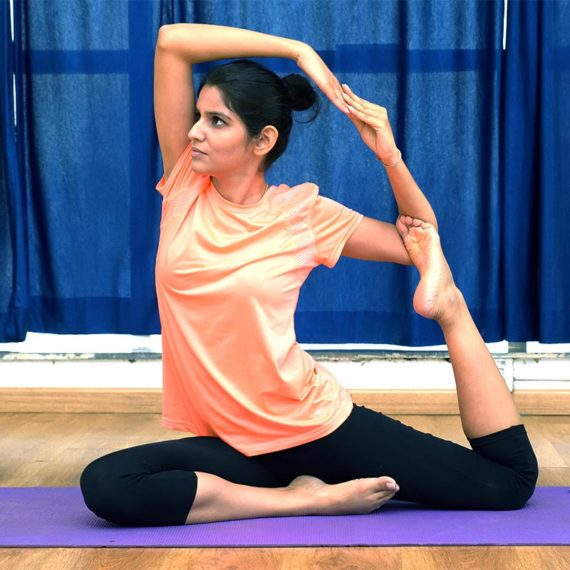 Female yoga trainers
