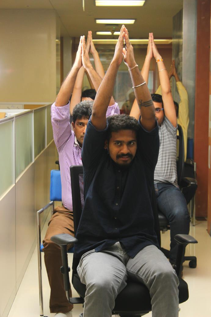 Desktop Yoga Wellness at Companies