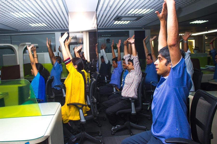 Office Yoga at Company