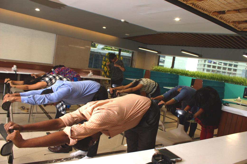 Yoga in Corporate Company