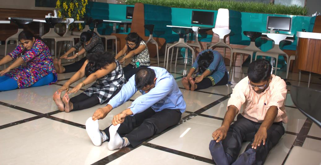 Yoga sessions at office