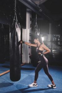 body image building through kickboxing