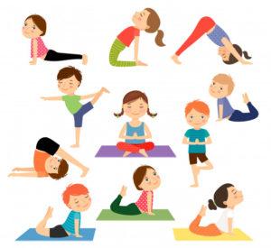 kids bonding over yoga