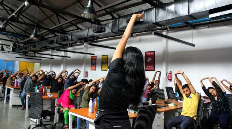 Yoga At Companies Offices International Yoga Day Celebrations India Mumbai