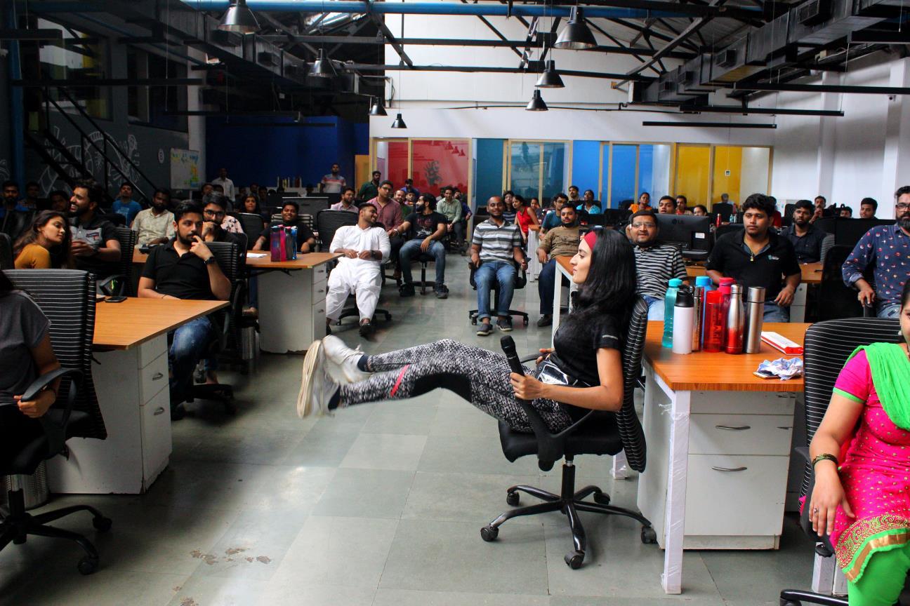 Desiktop Office Yoga India