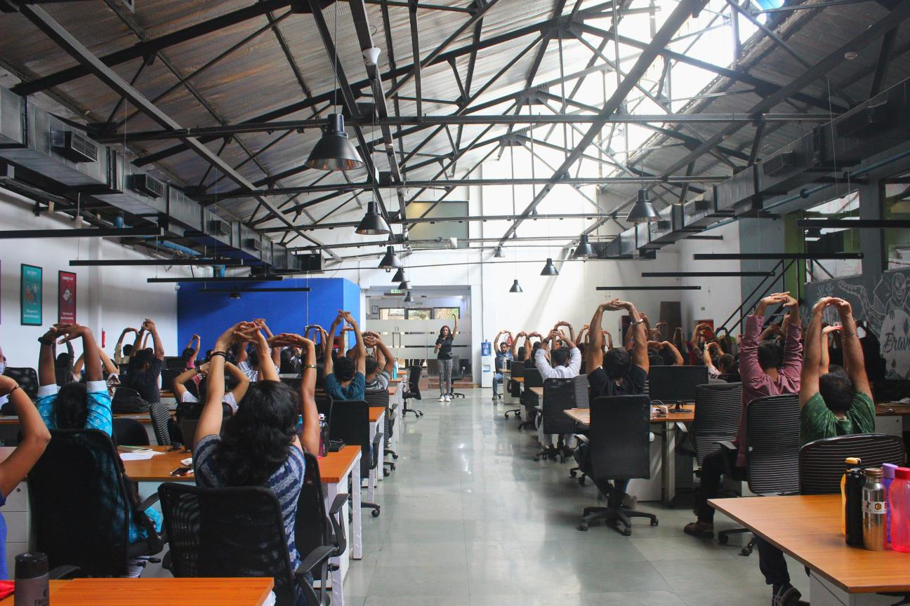 Yoga Trainer Devanshi at Corporates