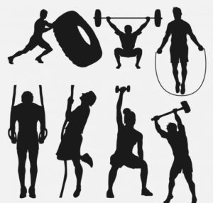 CrossFit using equipment