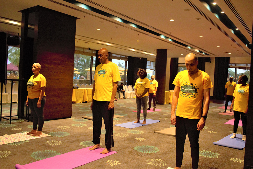 Yoga at JW Mariott